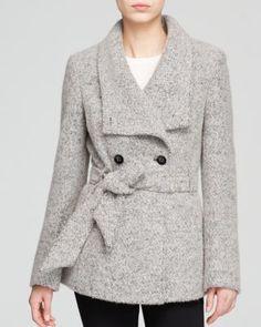 Calvin Klein Coat - Wrap Boucle Wool | Bloomingdale's - $274.00