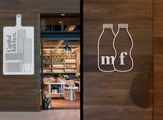 Brilliant, simple and funny.  Capital Kitchen, Australia  Graphic Designer: Cornwell  Interior Designer: Mim Design