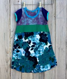 CHILDRENS CLOTHING Summer girls dress Girls Clothes Upcycled dress for girl 4-5yr Children Spring Clothes Kids wear Spring Summer Clothing. $46.00, via Etsy.
