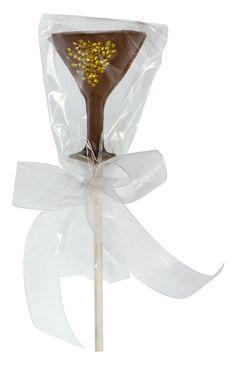 Chocolate Martini Glass Sucker. Available in milk, dark and white chocolate.
