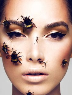 Insect-Infested Editorials - The Schon Magazine Issue #19 Features A Stunning Beauty Story (GALLERY)