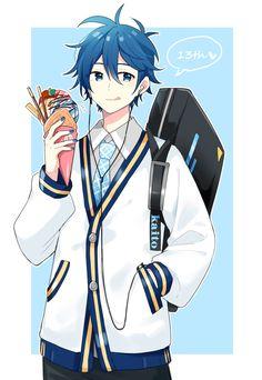 Creds @ 瘋狐 on Pixiv | KAITO Manga Anime, Manga Boy, Anime Guys, Anime Art, Vocaloid Kaito, Kaito Shion, Vocaloid Wallpaper, Blue Hair Anime Boy, Chibi