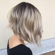 70 Devastatingly Cool Haircuts for Thin Hair Purple Grey Hair, Silver Blonde Hair, Brown Hair With Blonde Highlights, Platinum Blonde Hair, Thin Hair Haircuts, Mom Hairstyles, Cool Haircuts, Messy Short Hair, Short Hair Cuts