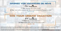 >Sweepstakes ~ Win A $1500 #Travel Voucher OR $200 Parasuco Gift Card ~ CANADA