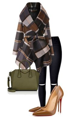 """""""Serious and elegant @itsmariahi @ootdmry"""" by izarraraz-l on Polyvore featuring moda, Chicwish, Christian Louboutin y Givenchy"""
