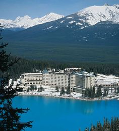Lake Louise Alberta- Lake Louise Chateau built in 1890. Lake Louise is near Banff Alberta - where every view is amazing