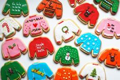 These sweater cookies are too cute.
