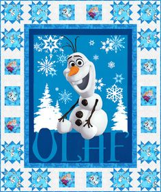 Olaf's Adventure FREE Quilt Pattern - personalize your own at http://www.equilter.com/pattern/575/olafs-adventure