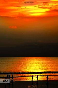Sunset @ Kuta Beach, Bali by Charuhas Images on 500px