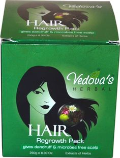 Vedova's Hair Regrowth Pack is a unique formulation which contains collection of rare herbs. This pack immerses hair and scalp in natural minerals and organic riches and leaves even dry or chemically treated hair luxuriously full, alive, Keep scalp free from dandruff & microbes