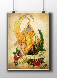 Sons of Odin Thor & Loki Tattoo Parlour Poster by NebulaPrints