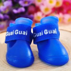 DOG BOOTS Rubber Water Protective Pet Shoes Booties Waterproof Rain Walk Shoes -- See this great product.