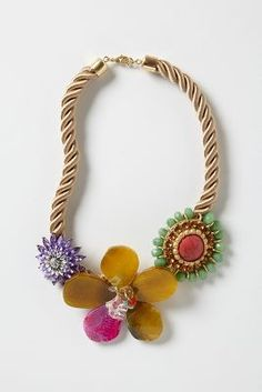 a garden around my neck  - Floret Rope Necklace via Anthropologie  #FlowerShop