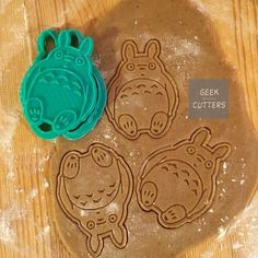 Totoro Cookie Cutter Our cookie cutters are made to order with a high quality 3D printer in plastic at the time of order. They are made in the order that payment was received (put in a queue). The wait time to print does vary. If you need this item right away, please feel free to request