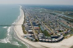 Aerial view of the Cherry Grove Beach section of North Myrtle Beach, SC.