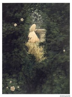 fairytale girl explores mystic ethereal forest, nostalgic, dreamy