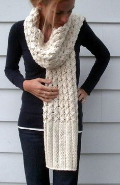 Ravelry: Vanilla Twist pattern by Amy Miller - easy long scarf with cable body and long rib edge trim, for when I learn to knit cables Knit Or Crochet, Learn To Crochet, Crochet Scarves, Knitting Scarves, Easy Scarf Knitting Patterns, Knit Patterns, Afghan Patterns, Handgestrickte Pullover, Small Scarf