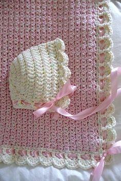 Ravelry: buttercup11's ZU - Tiramisu Baby Blanket A  ༺✿Teresa Restegui http://www.pinterest.com/teretegui/✿༻