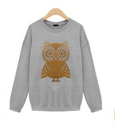Owl Obsession Sweatshirt in Grey from P.S. I Love You More Boutique -- Fashion. www.psiloveyoumoreboutique.com
