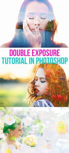double exposure tutorial in photoshop // photography tutorial