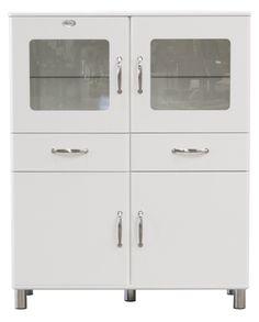 Tenzo 5237-005 Malibu - Designer Doppelvitrine / Schrank 150 x 120 x 44 cm, MDF lackiert, weiß: Amazon.de: Küche & Haushalt