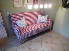 Schwedensofa / Küchensofa 3 - Sitzer , mit hohem Rücken/ Karo/Streifen | eBay