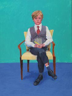 """David Hockney """"Portrait of Rufus Hale"""" 2015 (Ca' Pesaro, Venice special exhibit) Photo credit: Richard Schmidt"""