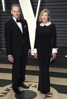 <p>Bo Welch and Catherine O'Hara arrive at the Vanity Fair Oscar Party on Sunday, Feb. 26, 2017, in Beverly Hills, Calif. (Photo by Evan Agostini/Invision/AP) </p>