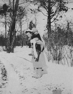 Grand Duchess Olga Nikolaevna and Tsarevich Alexei Nikolaevich.