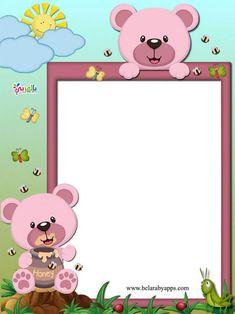Frame Border Design, Photo Frame Design, Kids Background, Flower Background Wallpaper, Arte Do Hulk, Diy For Kids, Crafts For Kids, Boarders And Frames, Notebook Cover Design