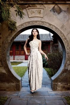Fan Bingbing, photographed at Aman at Summer Palace, Beijing. Photograph by Frédéric Lagrange