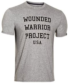 c7bf079f Under Armour Wounded Warrior Project USA T-Shirt - UA Men's WWP Cotton Tee  Shirt