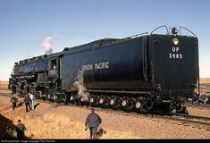 RailPictures.Net Photo: UP 3985 Union Pacific Steam 4-6-6-4 at Unknown, Wyoming by Tom Farence