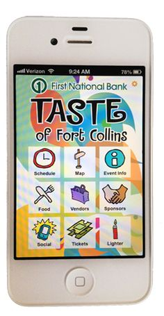 It's here! The Taste of Fort Collins App is in the iTunes and Android app stores...and its FREE!