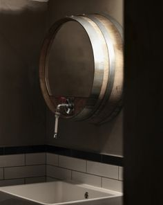 Creneau International › Balthazar, Wine bar #bathroom - cool idea for our bar bathroom at home