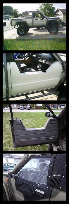 Half doors on a first gen Toyota - Today Pin Toyota 4runner, Toyota 4x4, Toyota Trucks, Toyota Lift, Toyota Tacoma, Jeep Xj Mods, Truck Mods, Cool Trucks, Cool Cars