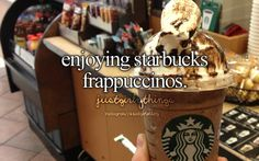 Enjoying Starbucks Frappuccinos ~ Just Girly Things
