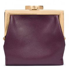 Damson leather purse by Lulu Guinness for women.