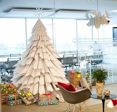 office christmas decorations ideas brilliant handmade workstations. Pin For Later: Easy DIY Decor To Take You From Thanksgiving Christmas Paper Tree Looking A That Doesn\u0027t Drop Needles? Making This Is Office Decorations Ideas Brilliant Handmade Workstations