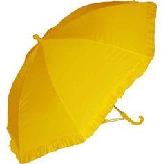 Kids Yellow Ruffle Umbrella #rainydaysoiakyo