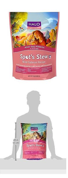 Dog Food 66780: Halo Spots Stew Natural Dry Dog Food Adult Dog Wild Salmon 15 Lb New -> BUY IT NOW ONLY: $39.48 on eBay!