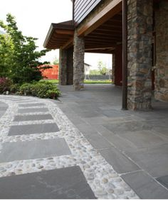 Outside floor in quartzite for #home