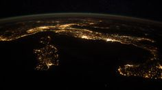 Space in Images - 2014 - 04 - Italy at night