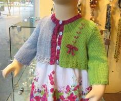 Child's Knitted Cropped Cardigan