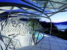 Pool structure in Vienna, Austria designed by Heri & Salli