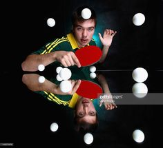 Robert Frank of Australia poses during an Australian Table Tennis portrait session at the Melbourne Sports & Aquatic Centre on May 25, 2012 in Melbourne, Australia.