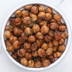 """""""Ranch"""" Roasted Chickpeas Recipe by Tasty New Recipes, Dog Food Recipes, Snack Recipes, Cooking Recipes, Veggie Recipes, Yummy Recipes, Dinner Recipes, Healthy Eating Recipes, Healthy Snacks"""