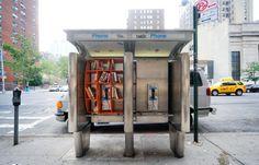 Cabina telefónica tipo librería