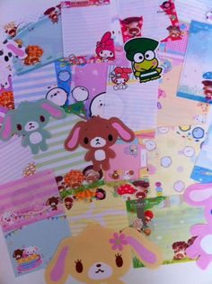 Kawaii Stationary Large Memo Sheets by BellasLilBoutique on Etsy, $2.25