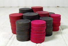 Vintage Variety of Worn Red & Black Paint Wooden by DivineOrders, $16.00
